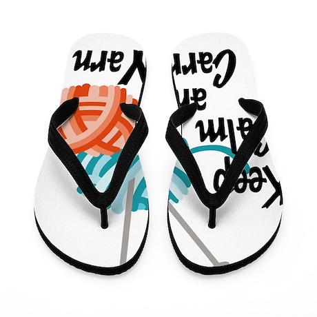 Keep Calm and Carry Yarn Flip Flops