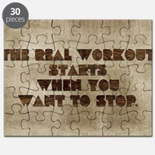 Card The real workout starts when you want  Puzzle