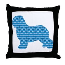 Bone Schapendoes Throw Pillow