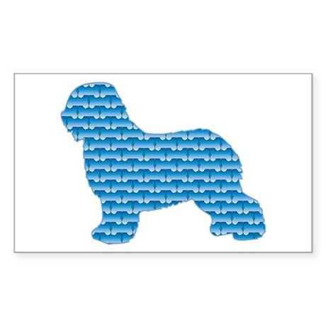 Bone Schapendoes Rectangle Sticker