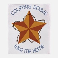 Country Roads Throw Blanket
