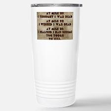 card at mile 20 Stainless Steel Travel Mug