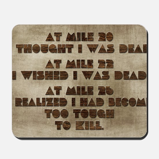 card at mile 20 Mousepad