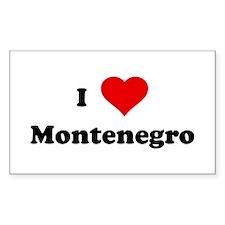 I Love Montenegro Rectangle Decal