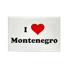 I Love Montenegro Rectangle Magnet (100 pack)