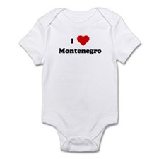 I Love Montenegro Infant Bodysuit