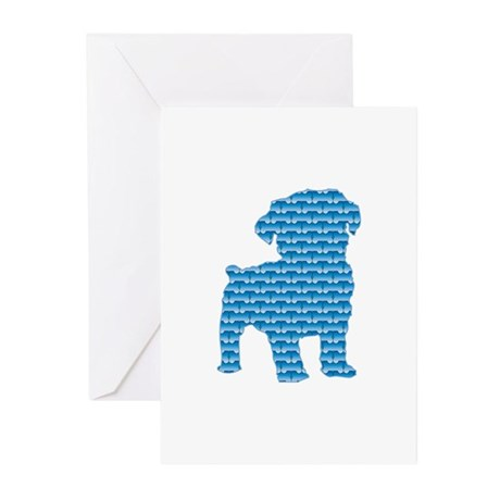 Bone Schnoodle Greeting Cards (Pk of 10)