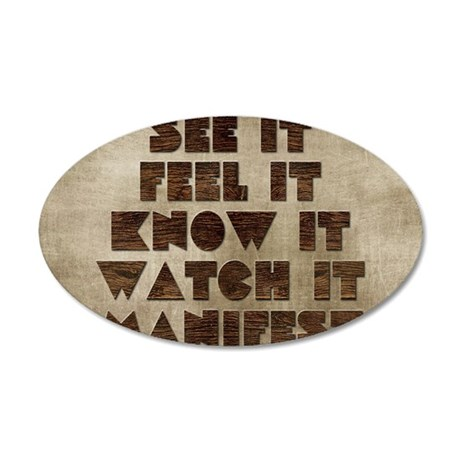 Card See it feel it know it 35x21 Oval Wall Decal