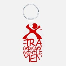 X-Traordinary Gentlemen - R Aluminum Oval Keychain