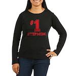 #1 Stepmom Women's Long Sleeve Dark T-Shirt