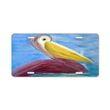 Pretty Pelican Aluminum License Plate