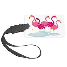 Flamingos Luggage Tag