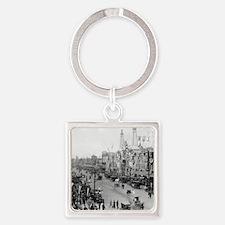 Coney Island Strets 1826595 Square Keychain