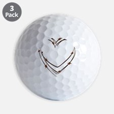 Barbed Wire Heart Golf Ball