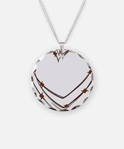 Barbed Wire Heart Necklace
