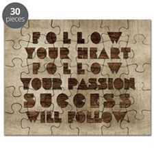 card follow your heart follow your passion  Puzzle