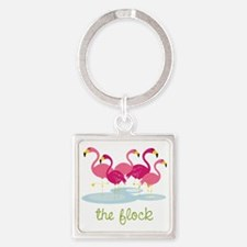 The Flock Square Keychain