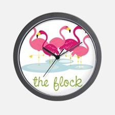 The Flock Wall Clock