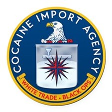 CIA Round Car Magnet