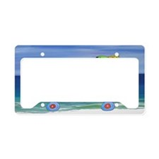 Its 5 OClock Beach Lady License Plate Holder