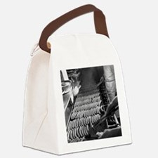 Nathans Hotdog Stand Coney Island Canvas Lunch Bag