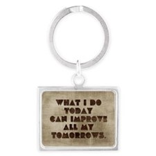 Card What I do today can improv Landscape Keychain