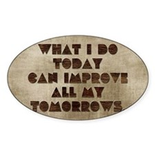 Card What I do today can improve al Decal