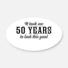 50th Birthday Oval Car Magnet