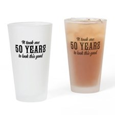 50th Birthday Drinking Glass