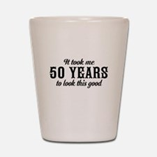 50th Birthday Shot Glass