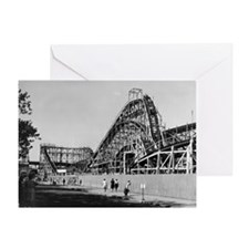 Coney Island Cyclone Roller Coaster  Greeting Card