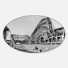 Coney Island Cyclone Roller Coaster Decal
