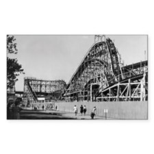Coney Island Cyclone Roller Co Decal