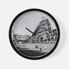 Coney Island Cyclone Roller Coaster 182 Wall Clock