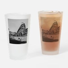 Coney Island Cyclone Roller Coaster Drinking Glass