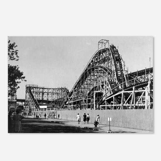 Coney Island Cyclone Roll Postcards (Package of 8)