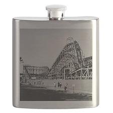 Coney Island Cyclone Roller Coaster 1826587 Flask