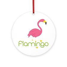 Flamingo Round Ornament