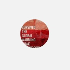 I Survived The Global Warming Hoax Mini Button