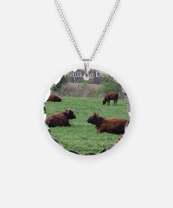 Milking Devon Cattle Necklace