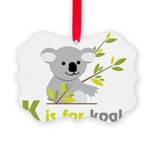 K Is For Koala Ornament