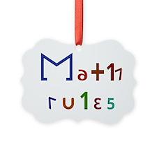 Math Rules! Ornament