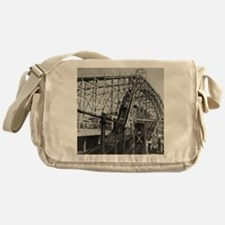 Coney Island Cyclone Roller Coaster  Messenger Bag