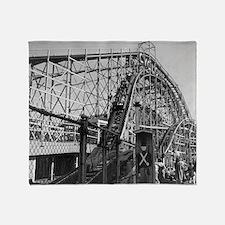 Coney Island Cyclone Roller Coaster  Throw Blanket