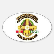 8th Field Hospital w SVC Ribbon Stickers