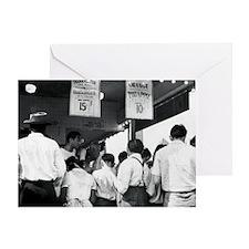 Nathans Hotdog Stand Coney Island182 Greeting Card