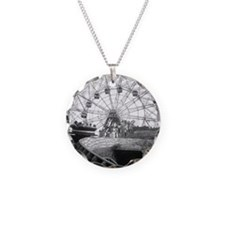 Coney Island Amusement Rides Necklace Circle Charm