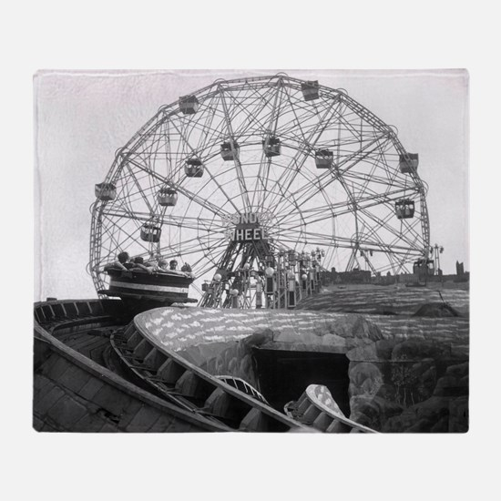 Coney Island Amusement Rides 1826612 Throw Blanket