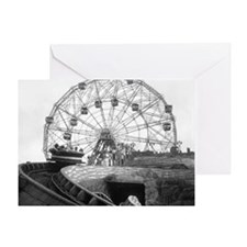 Coney Island Amusement Rides 1826612 Greeting Card