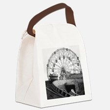 Coney Island Amusement Rides 1826 Canvas Lunch Bag